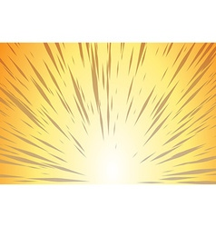 Sun Rays for Comic Books Radial Background vector image
