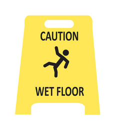 Slippery wet floor icon vector