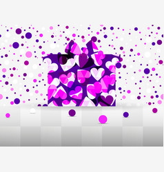 gift box with a pattern of hearts sale banner vector image