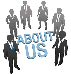 About us company website people icon vector