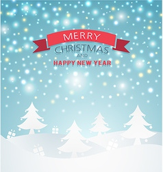 Magical merry christmas landscape vector