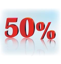 50 percent vector