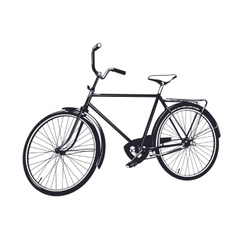Gray bicycle vector