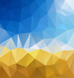 Blue sky yellow harvest polygon triangular pattern vector