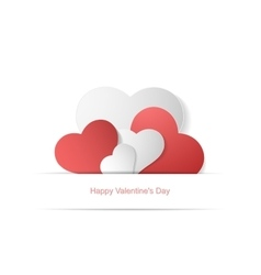 Paper hearts happy valentines day vector
