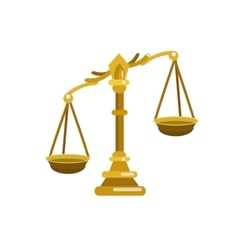 Scales of justice is an vector