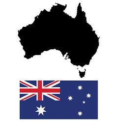 Austalian map and flag vector