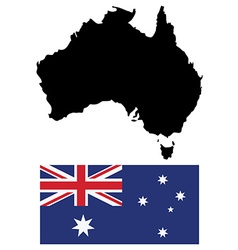 Austalian map and flag vector image