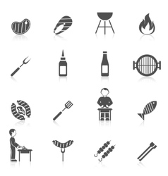 Bbq Grill Icon Black vector image vector image