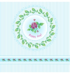 Beautiful roses post card for holiday vector image vector image