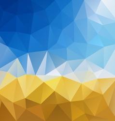Blue sky yellow harvest polygon triangular pattern vector
