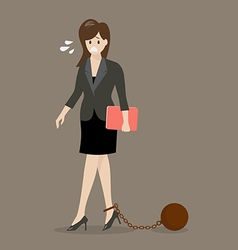 Business woman with weight burden vector