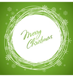 Christmas swirl card green vector image