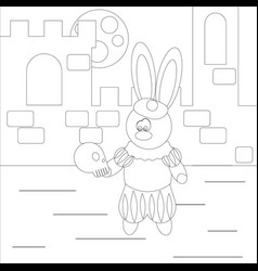Coloring rabbit actor vector