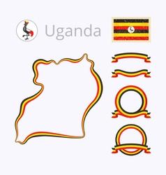 Colors of uganda vector