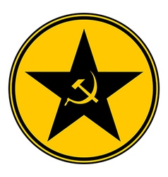 Communism star button vector image vector image