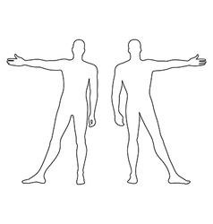 Fashion mans outlined template figure vector