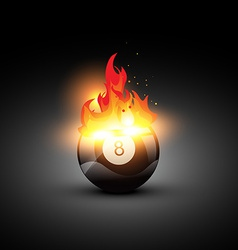 Fire pool ball vector