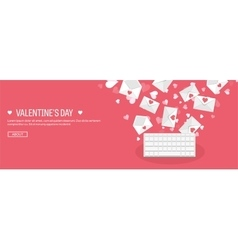 Flat background with keyboard vector