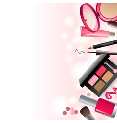 Glamorous make-up background vector