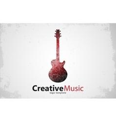 Guitar logo Creative guitar logo Music logo vector image vector image