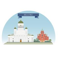 Helsinki vector image vector image