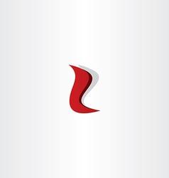 letter l red logo font design vector image vector image