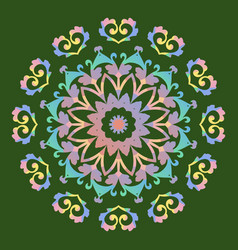 mandala abstract design vector image