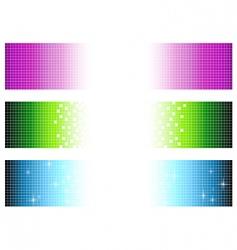 pixel banners vector image vector image