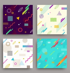 Set of abstract avangarde retro background vector image