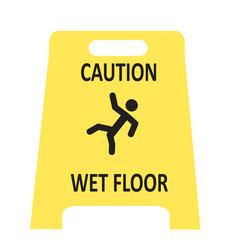 Slippery wet floor icon vector