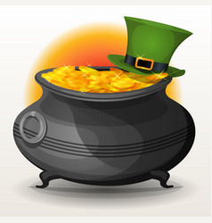 st patricks day cauldron vector image vector image