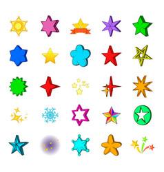 star icon set cartoon style vector image