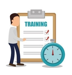 Training business concept design vector