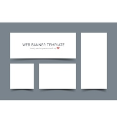 Web banners with shadow set isolated on dark gray vector image