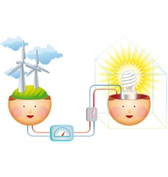 think windy vector image