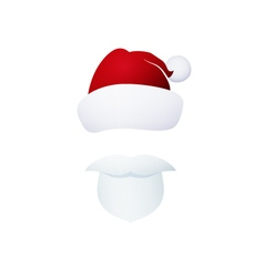 Santa claus isolated on white vector