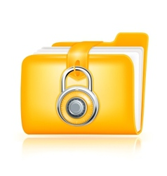 Closed folder icon vector