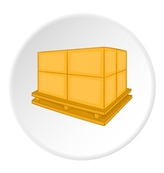 Pallet icon isometric style vector