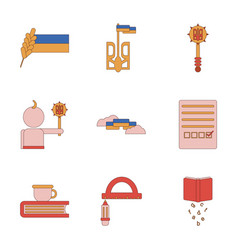 Assembly flat icons school lessons vector