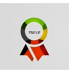 Insignia paper modern design vector image