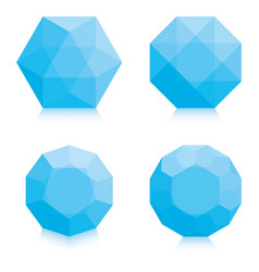 Light blue polygons vector