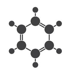 Benzene molecular model vector