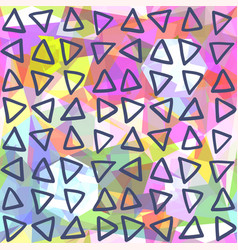 Abstract seamless pattern triangles drawn on vector