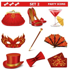 Party icons set 2 vector