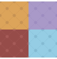 Color seamless patterns - set vector