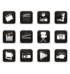 Cinema buttons vector