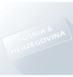 Bosnia and herzegovina unique button vector