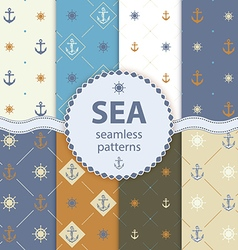 Seamless patterns aqua background set wallpaper vector
