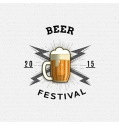 Beer festival badges logos and labels for any use vector